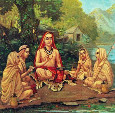 Adi Shankara by Raja Ravi Varma