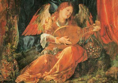 A mural frgament by Albrecht Dürer from the Rosary altarpiece, Germany