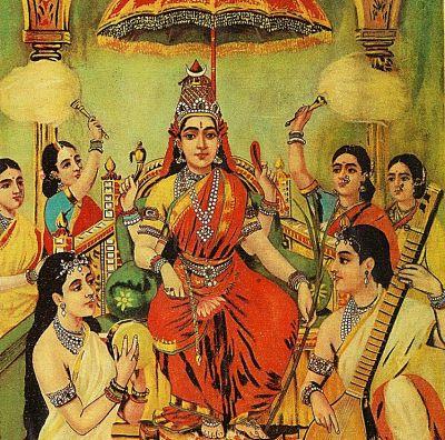Ambika by Raja Ravi Varma