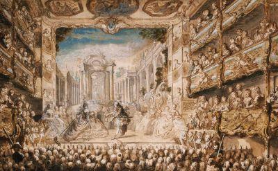 Armide at the Palais-Royal Opera House by Gabriel de Saint-Aubin