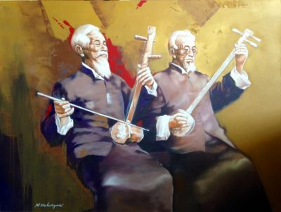 Erhu Players by Wahyu Srikaryadi