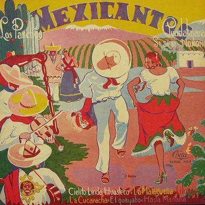 Los Panchos's Mexicantos LP cover