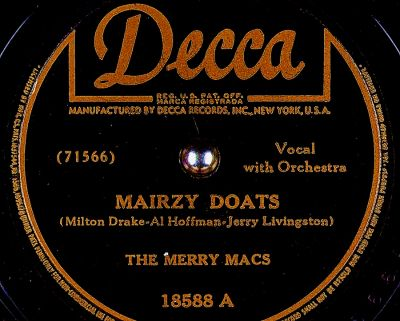Mairzy Doats by The Merry Macs