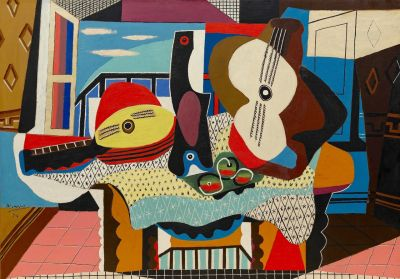 Mandolin and Guitar by Pablo Picasso