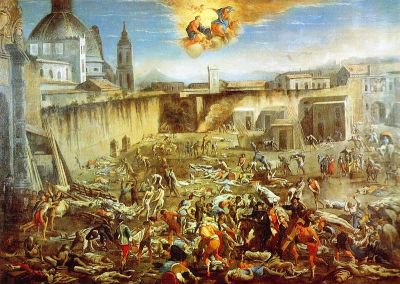 The Marketplace in Naples During the Plague of 1656 by Micco Spadaro