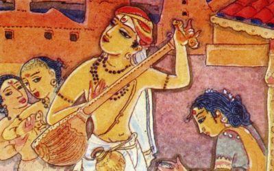 Saint Tyagaraja by Vidya Shankar