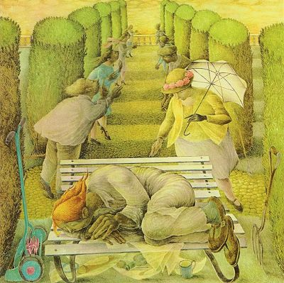 The Dream by Betty Swanwick as LP cover for Selling England by the Pound