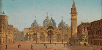 St Mark's Square and St. Mark's Basilica by August von Siegen