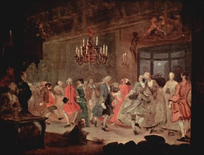 The Country Dance by William Hogarth inspired Kubrick's interior scenes