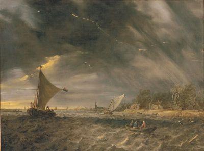 The Thunderstorm by Jan van Goyen