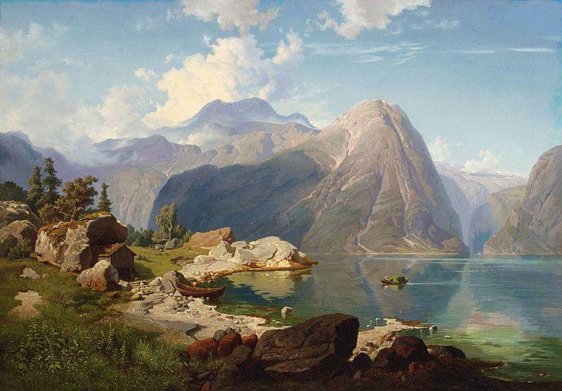 Hardanger Fjord by August Wilhelm Leu
