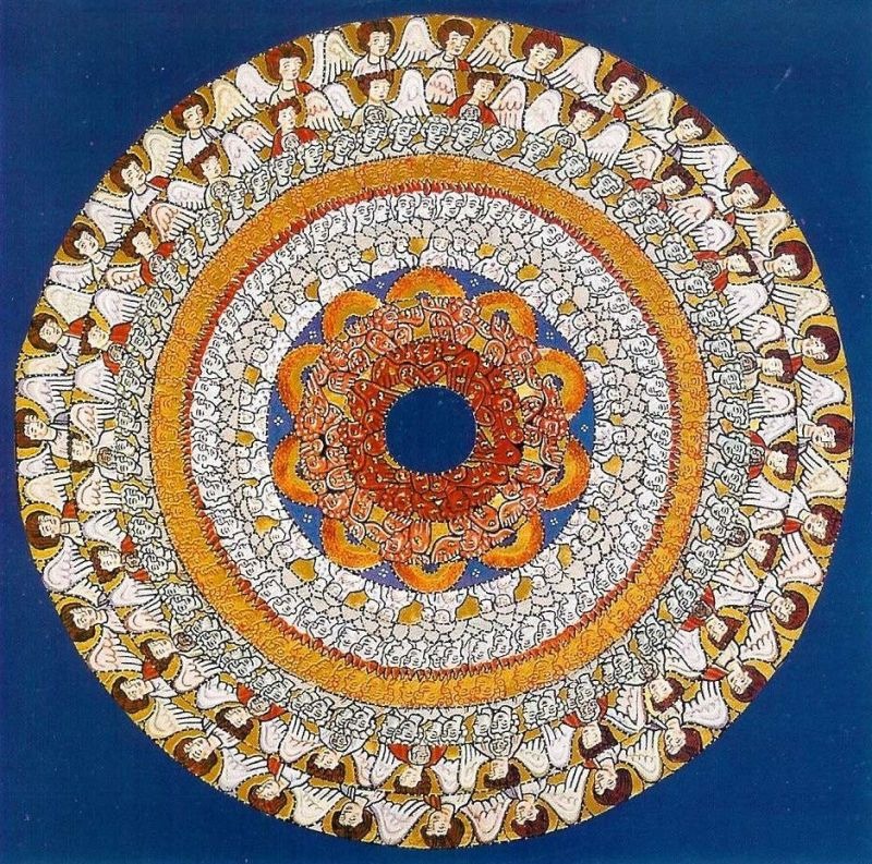 Illumination of Choirs of Angels from the Liber Scivias by Hildegard von  Bingen