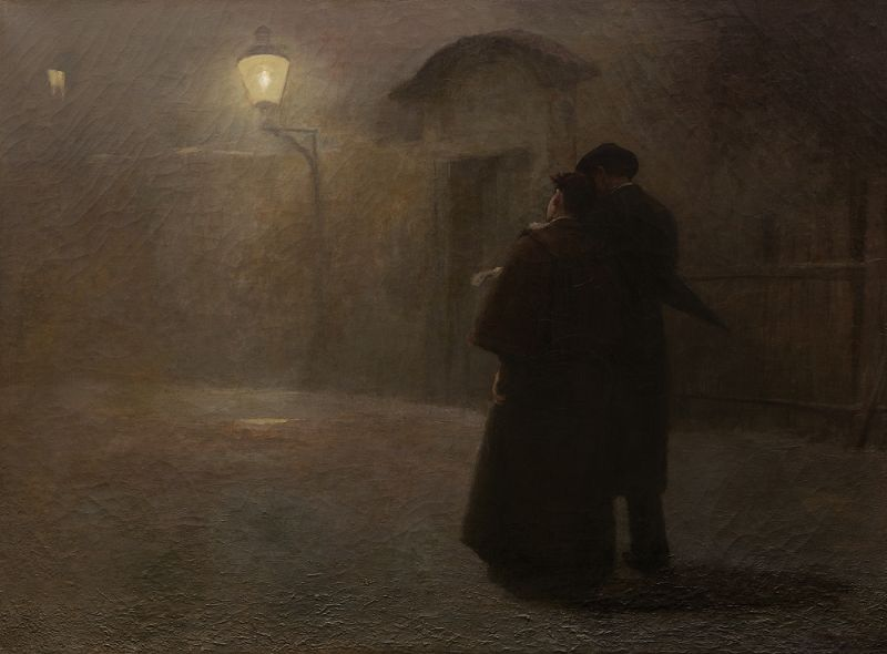 The Kampa Lovers by Jakub Schikaneder
