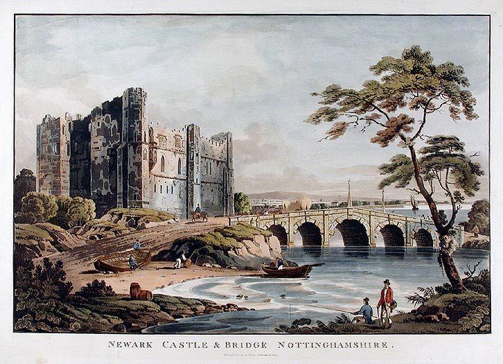 Newark Castle and Bridge published by J.Deeley