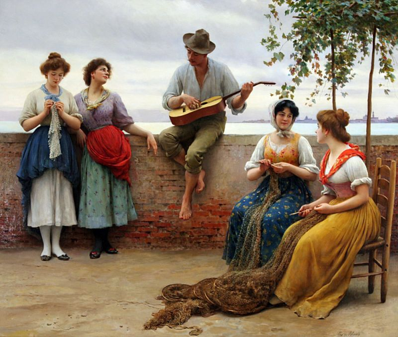 Eugene de Blaas 'The Serenade'