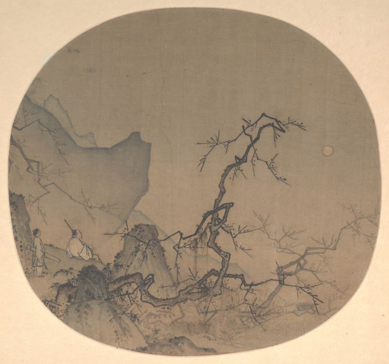 Viewing Plum Blossoms by Moonlight by Ma Yuan