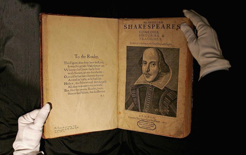 William Shakespeare's original works from 1623