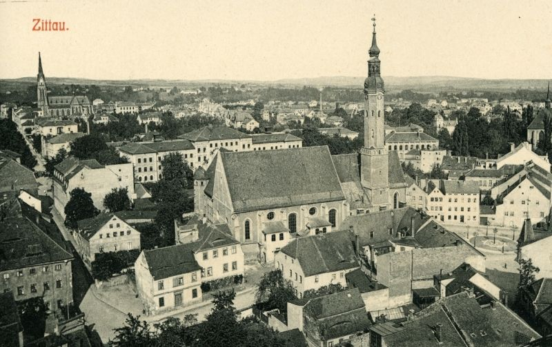 The view of Zittau in 1904