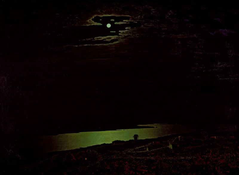 Moonlight Night on Dnipro by Arkhip Kuindzhi