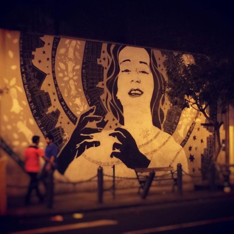 Mural of Chabuca Granda