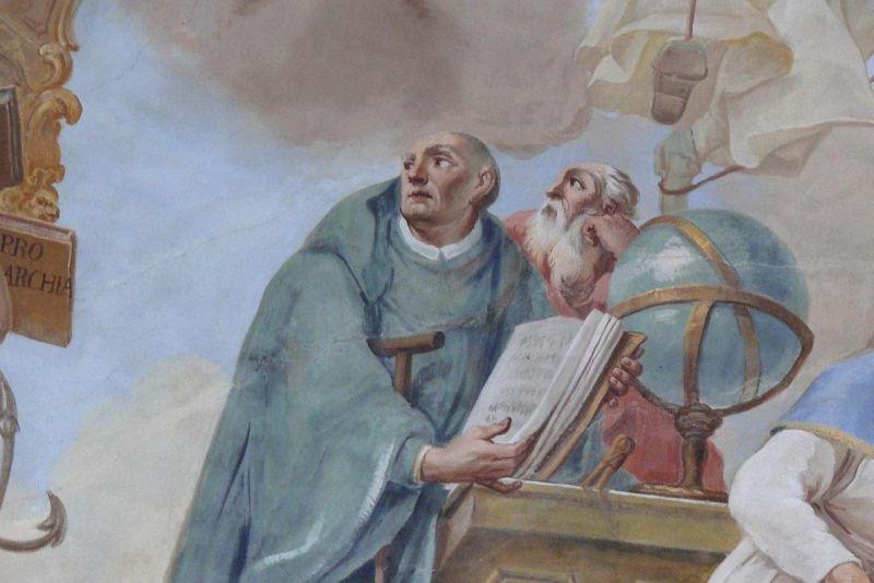 Hermann of Reichenau in Kloster Schussenried fresco