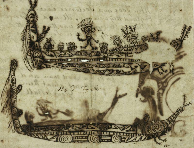 Māori Inc Drawing с.1818