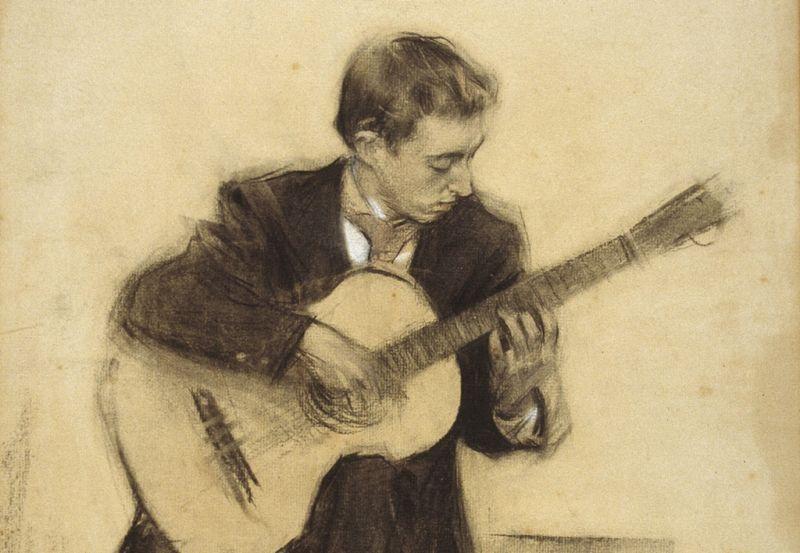 Miguel Llobet by Ramon Casas