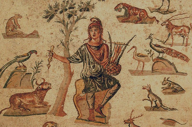 Orpheus in a Phrygian cap by Giovanni Dall'Orto