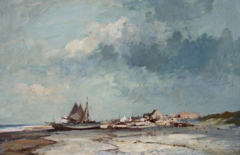 Shrimp Boats on the Suffolk Coast by Edward Seago