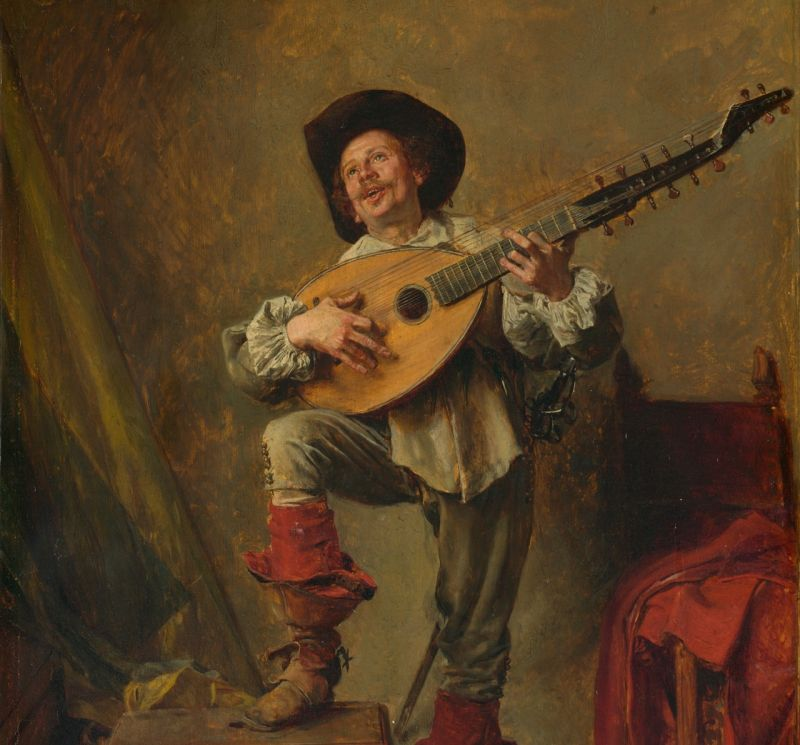 Soldier Playing the Theorbo by Ernest Meissonier
