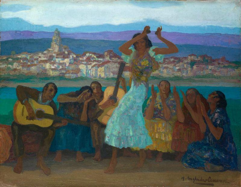 The Gypsy Dance by Hermenegildo Anglada-Camarasa