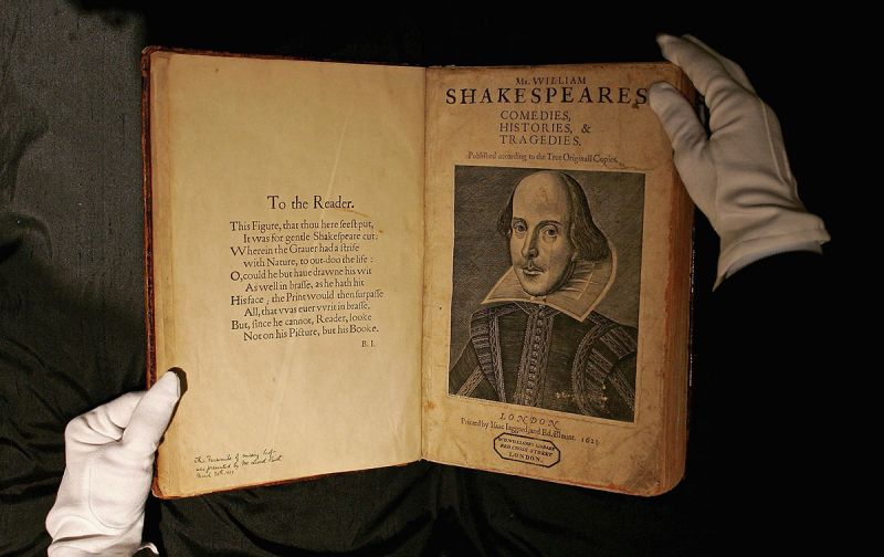William Shakespeare's original works from 1623