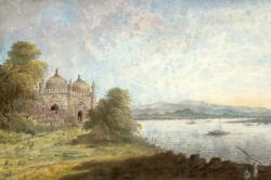 Akbari Mosque Overlooking Ganges by Sita Ram