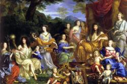 Louis and His Family Portrayed as Roman Gods by Jean Nocret