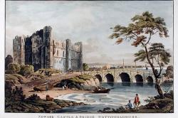 Newark Castle and Bridge published by J.Deeley