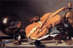 Vanitas with Violin and Glass Ball by Pieter Claesz