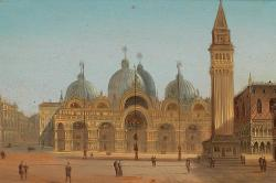 St Mark's Square and St. Mark's Basilica by August von Siegen