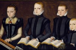 Unidentified Elizabethan Children Making Music by the Master of the Countess  of Warwick