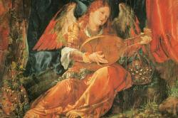 A mural frgament by Albrecht Dürer from the Rosary altarpiece, Germany
