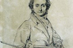 Niccolo Paganini by Jean-Auguste-Dominique Ingres