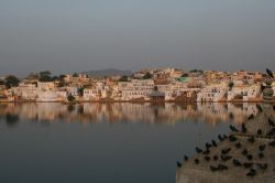 Pushkar Holy Lake in the Early Morning by Childed