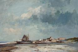Shrimp Boats on the Suffolk Coast by Edward Seago