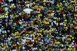 Supporters of African National Congress in Johannesburg