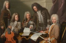 The Composer Michel De La Barre Directing Marin Marais and the Ordinary  Flutists of the King's Chamber by André Bouys