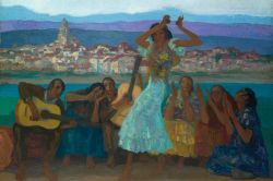 The Gypsy Dance by Hermenegildo Anglada-Camarasa