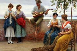 The Serenade by Eugene de Blaas