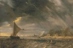 The Thunderstorm by Jan van Goyen