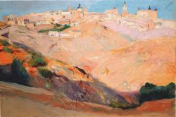 View of Toledo by Joaquín Sorolla