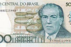 Villa-Lobos on a 500 Brazilian cruzados banknote