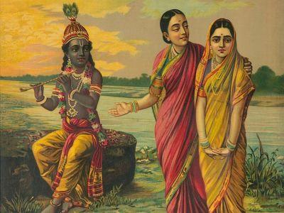 Radha Krishna (Manini Radha) by Raja Ravi Varma